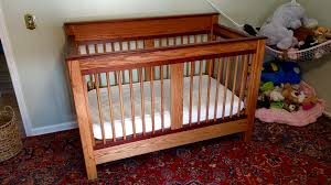 cribs that convert to toddler bed converted my handmade crib into to a toddler bed album on imgur