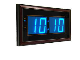 digital led wall clocks battery operated digital wall clock