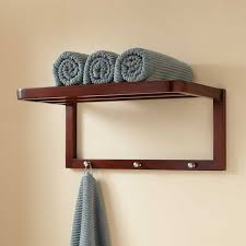 Bathroom Towel Shelves Wall Mounted Bathroom Bathroom Wood Towel Shelf Wall Mounted Wooden