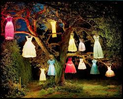 tim walker dress tree recreation photography