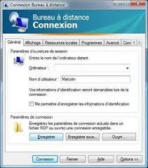 connexion bureau distance accéder à un ordinateur grâce au bureau à distance