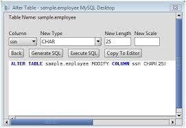 Change Table Name In Mysql Mysql Change Column Type Of Mysql Database Table Columns Via The