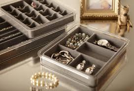 amazon com neatnix jewelry stax necklace organizer pearl grey