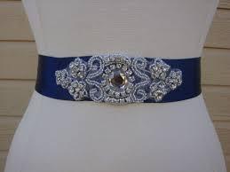 sparkly belts for wedding dresses navy blue and rhinestone sash belt vegas wedding ideas
