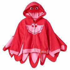 pj masks owlette fleece zip mask hoodie costume detachable