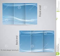 3 fold brochure template free tri fold brochure design stock vector illustration of handbill