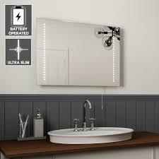 led bathroom mirrors uk led illuminated bathroom mirrors uk with shaver socket demister pad