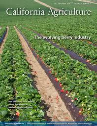 volume archive california agriculture university california