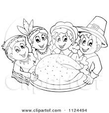 thanksgiving indian clipart black and white clipartxtras