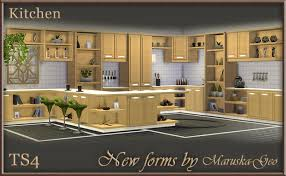 Kitchen Cabinets Blog My Sims 4 Blog New Forms Kitchen Cabinets By Maruskageo