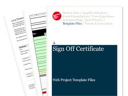 sign off certificate web project template files econsultancy