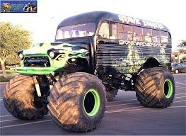 bus monster truck videos grave digger s boneyard shuttle monster trucks wiki fandom