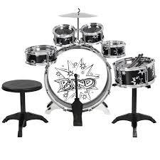 bcp kids toy musical instrument 11 piece kids drum set w bass
