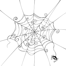 cool spider web drawings