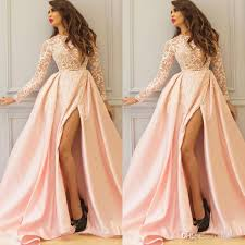 most beautiful a line long sleeve prom dresses 2017 lace winter