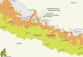 Nepal India Map by Annapurna