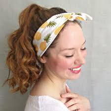 women s hair accessories pineapple headwrap yellow tie headscarf from sawu awesome gifts