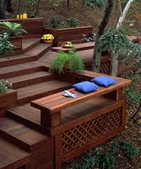 Decks With Benches Built In New Inspiration For Redwood Lawn Furniture Mendocino Forest Products