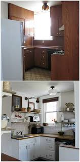 Small Kitchen Remodel Before And After Best 25 Small Kitchen Makeovers Ideas On Pinterest Small