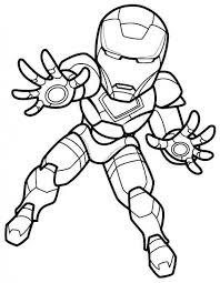 mini super hero squad iron man coloring superheroes