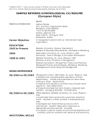 resume example doc example of a chronological resume resume examples and free example of a chronological resume chronological resume templates sample cv what chronological resume template is and