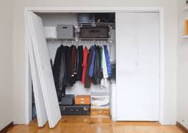 Space Saving Closet Doors How To Replace Bi Fold Closet Doors With Sliding Ones Apartment