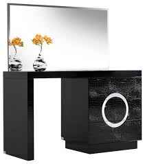 Modern Vanity Table A U0026x Ovidius Modern Black Crocodile Vanity Table U0026 Mirror Modern