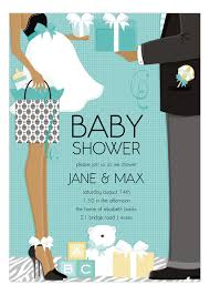 baby shower for couples blue american classic baby shower invitation