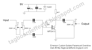 guitar fx layouts emerson custom guitars paramount overdrive