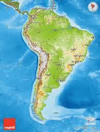 Patagonia South America Map by Physical Map Of South America Satellite Outside Shaded Relief Sea