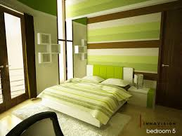 bedroom cool concept for retro go green modern interior tone
