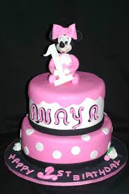 my pink little cake baby minnie mouse birthday cake