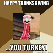happy thanksgiving you turkey turkey meme generator