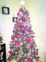 purple christmas tree pink and purple christmas tree christmas lights decoration