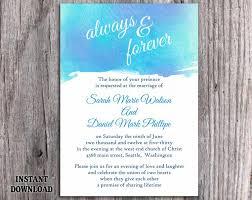 diy watercolor wedding invitation template editable word file