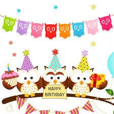 New Year Classroom Decoration by Aliexpress Com Buy Zljq Kids Birthday Party Decoration Owl