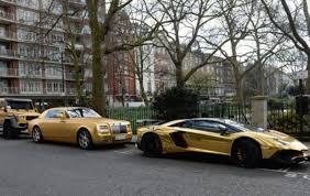 gold plated lamborghini aventador owner of golden supercar fleet revealed aol uk cars