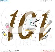 clipart painting 101 icon royalty free vector illustration by