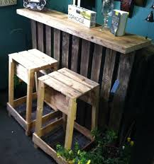 Wood Pallet Patio Furniture by The Pallet Bar Looks Great Indoors As Well Pallet And