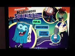 Halloween Dvd Nickelodeon Halloween Dvd Menu Walkthrough Youtube