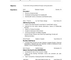 nursing student resume for internship resume exles nursing assistant sle graduate format