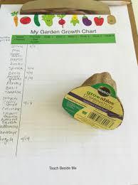 garden growth chart teach beside me