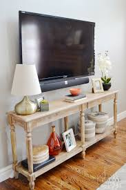 Wall Tables I Like The Use Of This Console Table As The Tv Stand My