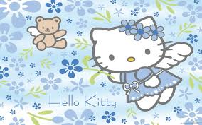 download hello kitty wallpaper blue and pink gallery