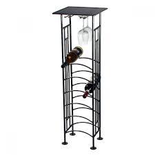 furniture marvelous black iron arbor floor standing wine racks