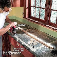 cutting countertop for sink how to cut kitchen countertop on impressive sink unique a for