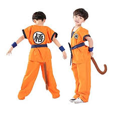 Dragon Ball Halloween Costumes Amazon Unisex Child Halloween Costume Son Goku Suit