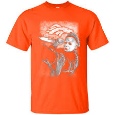 Halloween T Shirt Ideas by Michael Jason Myers Friday The 13th Denver Broncos Halloween T