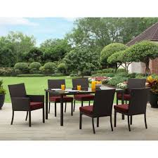 6 Chair Patio Dining Set Better Homes And Gardens Rush Valley 7 Piece Patio Dining Set