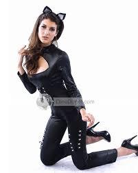 Catwoman Halloween Costume Midnight Skintight Black Catwoman Cosplay Halloween Women